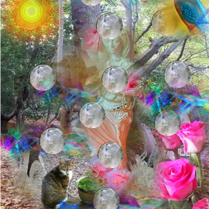 12-sphere-crystal-tree