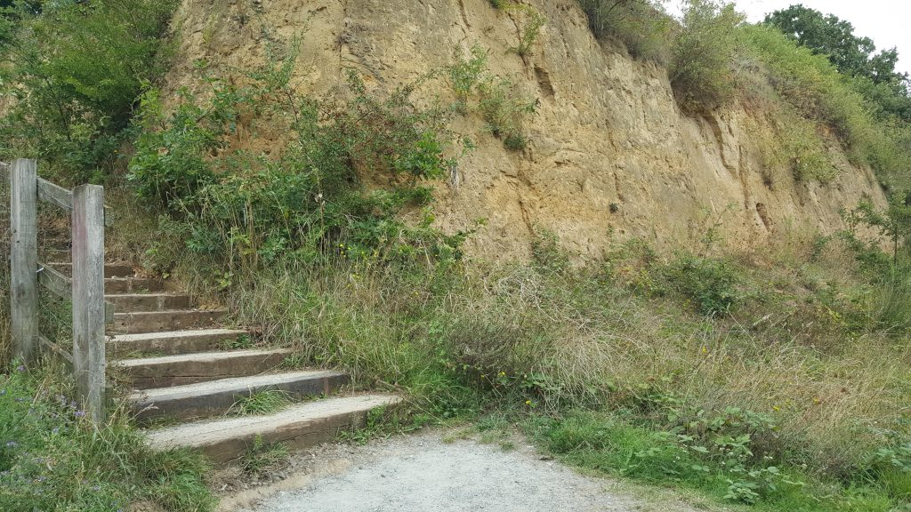 sand cliff,stairs