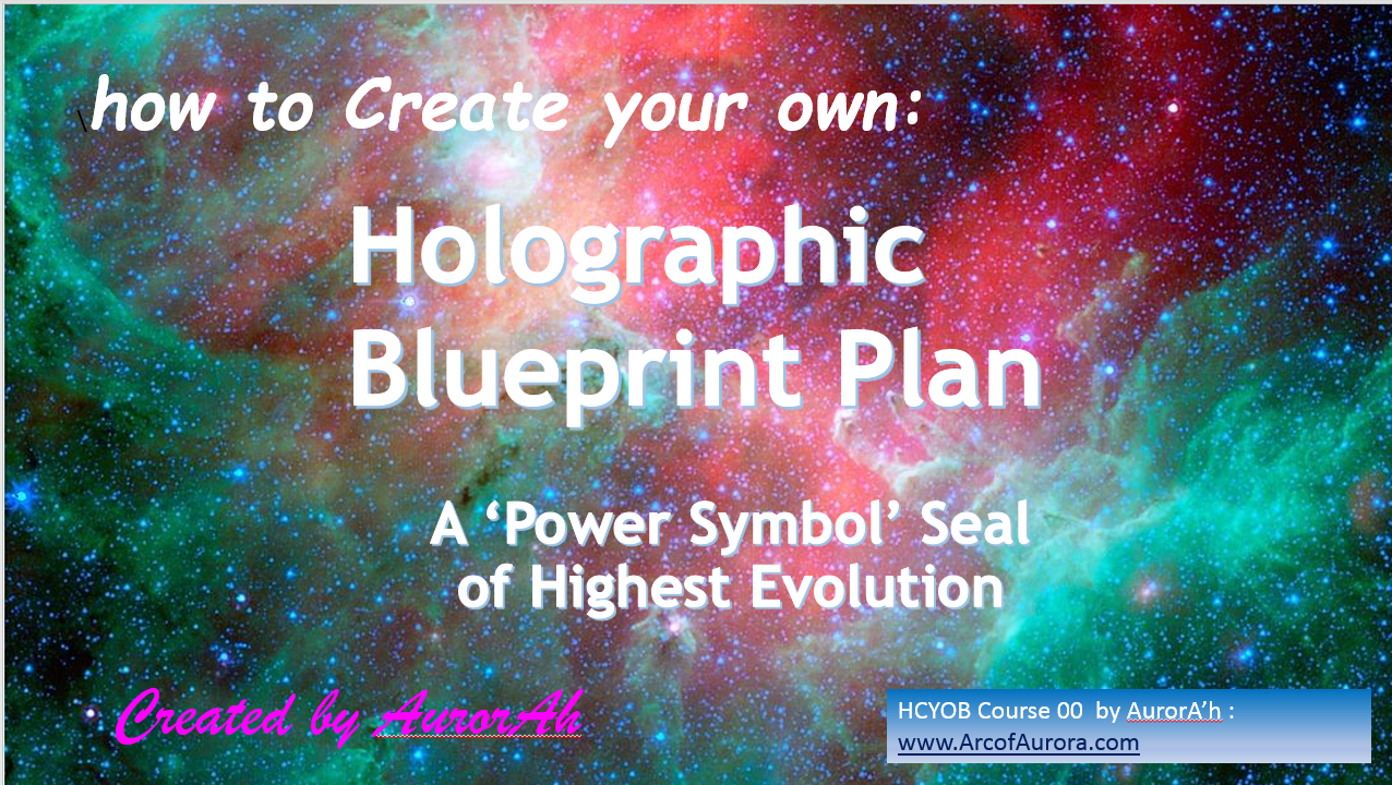 How to Create your own Holographic Blueprint Plan 1